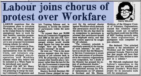 labour-protest-over-workfare-1988